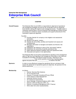 Enterprise Risk Council