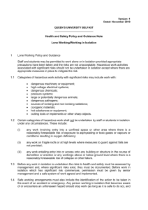 Lone Working Policy and Guidance