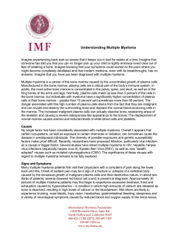 Professional Letter - International Myeloma Foundation