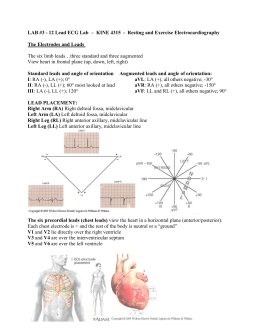 Microsoft Word - Lab 3 Resting and Exercise Electrocardiograph1