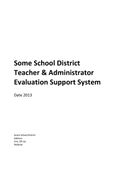 Overview of Some School District Teacher and Administrator