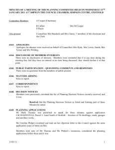 12 January 2011 - Stotfold Town Council