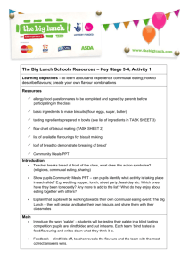 Activity 1 - The Big Lunch