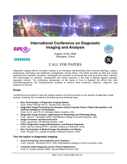 International Conference on Diagnostic Imaging and Analysis