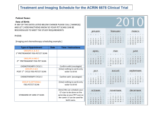 Expected Treatment Schedule and Imaging for ACRIN 6678