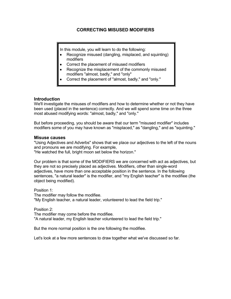 worksheet Dangling And Misplaced Modifiers Worksheet collection of dangling and misplaced modifiers worksheet 005826446 1 e72fda073ad0ddf27beab010393f079e changing worksheets