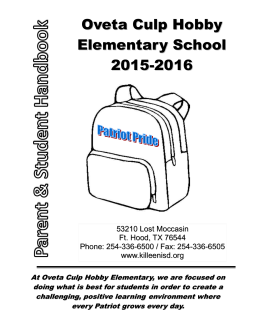 Student-Parent Handbook - Killeen Independent School District
