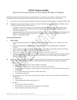 Universal precautions policy and procedure template for Bloodborne pathogens policy template