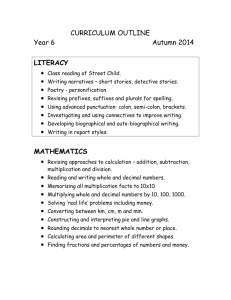 Y6 curriculum outline