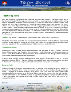 Teacher of Music