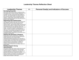 Leadership Themes Reflection Sheet