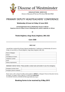 primary deputy headteachers` conference