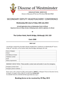 PRIMARY DEPUTY HEAD TEACHERS` CONFERENCE