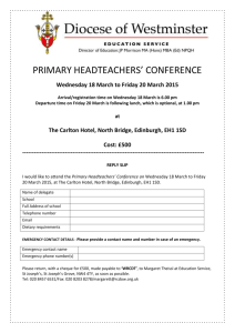 primary headteachers` conference