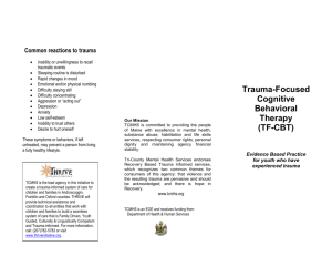Trauma-Focused Cognitive Behavioral Therapy - Tri