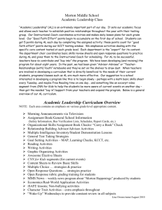 Academic Leadership Curriculum Overview