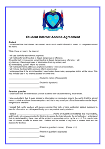 Student Internet Access Agreement