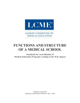Functions and Structure - Liaison Committee on Medical Education