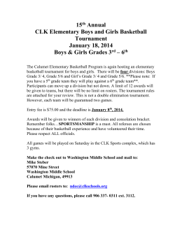 CLK Elementary Boys and Girls Basketball