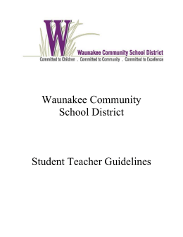 Student Teacher Guidelines - Waunakee Community School District
