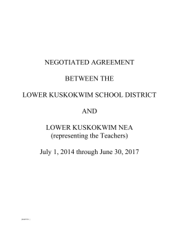 LKSD-LKNEA Teacher`s Negotiated Agreement July 1
