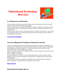 Hot List of Educational Technology Resources