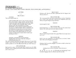 pygmalion act 1 summary