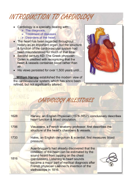 Introduction to Cardiology