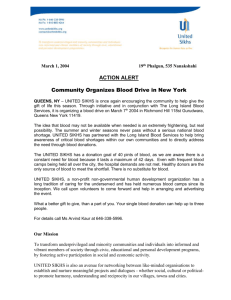 Community Organizes Blood Drive in New York