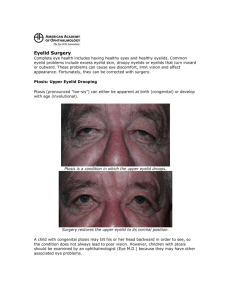 Eyelid Surgery Complete eye health includes having healthy eyes