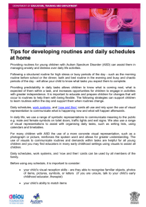 Tips for developing routines and daily schedules at home