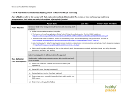 Step 4 (Skin to Skin) Action Plan Template