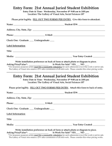 Entry Form: 12th Annual Juried Student Art Show