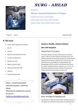 October 2010 Surg-Ahead Newsletter (3 Mb doc)