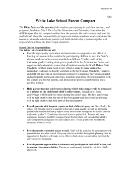 School-Parent-Compact - White Lake High School