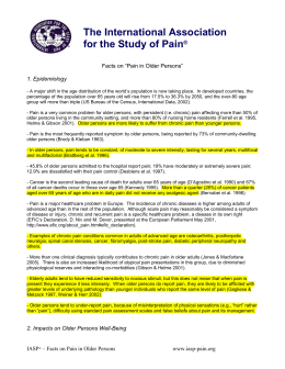 "Facts on ""Pain in Older Persons"""