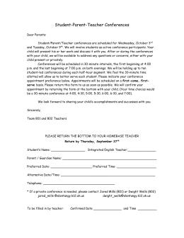 Sample institutional permission letter to principal dear xxxx student parent teacher conferences altavistaventures Image collections