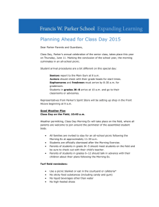 Francis W. Parker School Alumni Email Planning Ahead for Class
