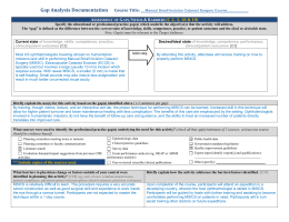 Assessment of Gaps Worksheet – with sample