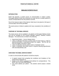 EMAILING PATIENTS POLICY - Pennygate Medical Centre
