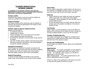 Patients` charter - Tonyfelin Medical Centre