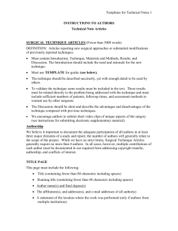8 Technical Note Template - Thieme Medical Publishers