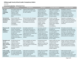 School Leader Competency Rubric