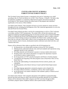 Parent Involvement Policy - English