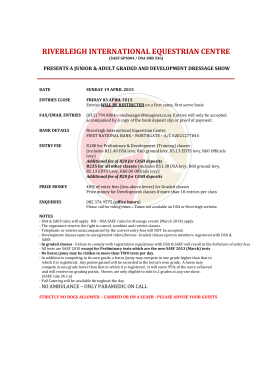 entry form – riverleigh dressage 19 april 2015