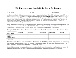 ics kindergarten lunch order form