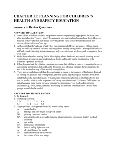 chapter 12 planning for children`s health and safety education