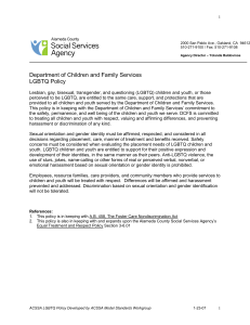 LGBTQ Policy - Alameda County Social Services