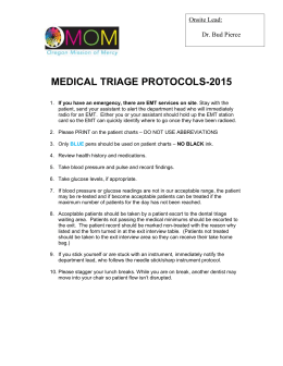OPERATIVE TRATMENT PROTOCOLS