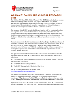 william t. dahms, md clinical research unit